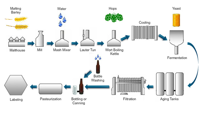 Brew/beer process